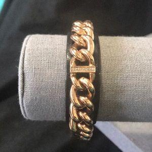 Lola and Grace leather snap bracelet